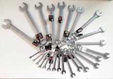 将图片加载到图库查看器,25pc Combination Wrench Wrench Set  CR-V ,Satin Finished