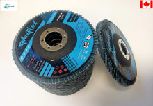"Load image into Gallery viewer, STANDARD ABRASIVES - 4-1/2"" X 7/8"" TYPE 27, 40 GRIT, FLAP DISC  10pc"