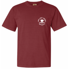 Load image into Gallery viewer, Red Ninth Street Espresso Five of a Kind t-shirt, front.