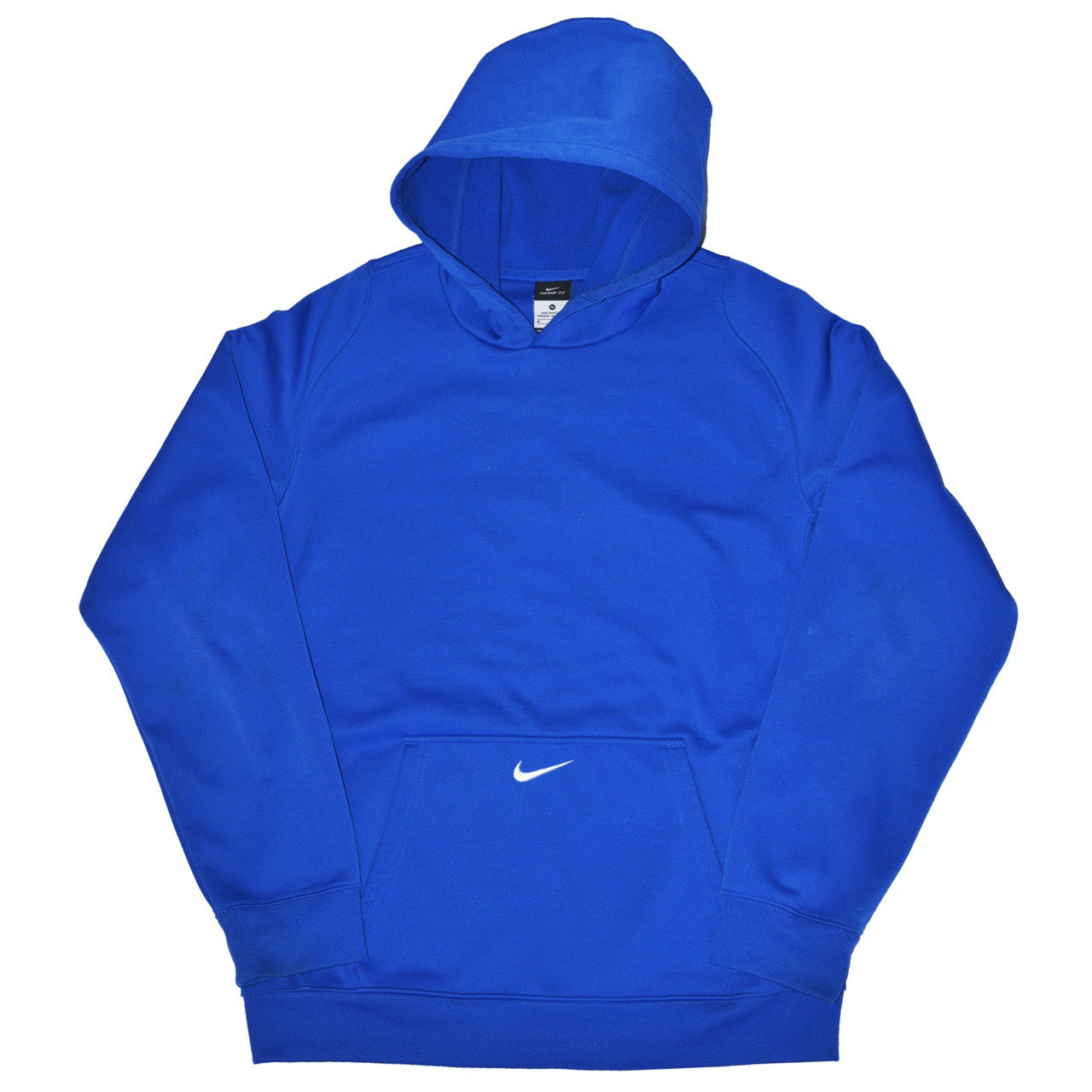 Vintage Nike Pocket Swoosh Hoodie Blue - Small