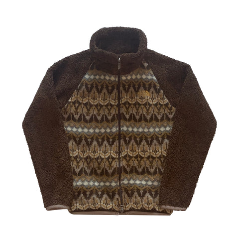 Brown Intarsia The North Face Fleece - Small