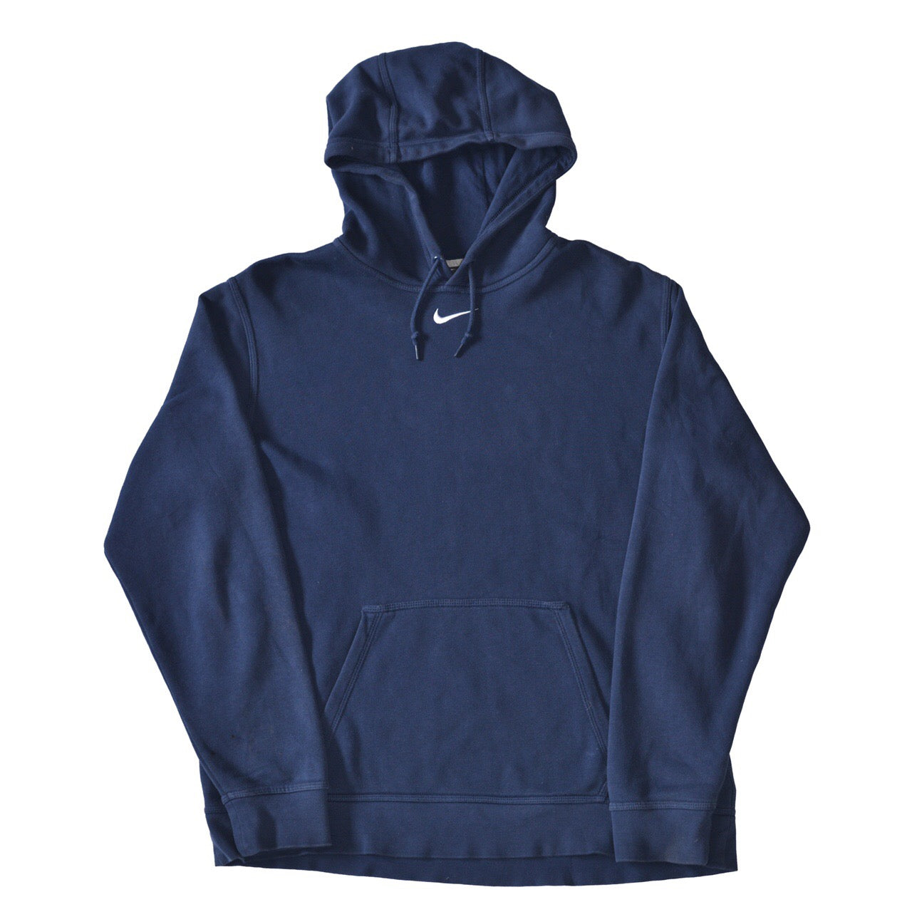Vintage Nike Centre Swoosh Hoodie Navy - Small