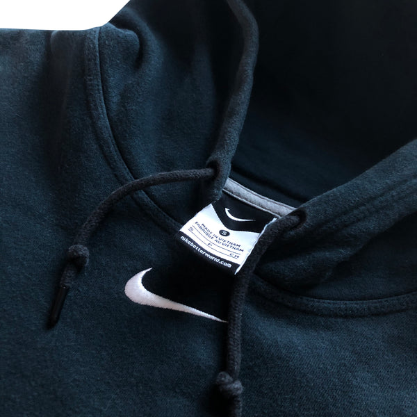 Nike Centre Swoosh Hoodie Charcoal Grey - Small