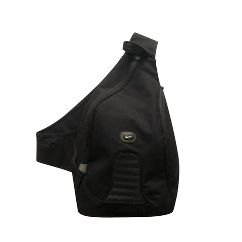 2000s Nike One Strap Sling Backpack - Black