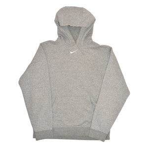 Vintage Nike Centre Swoosh Hoodie Grey - Small