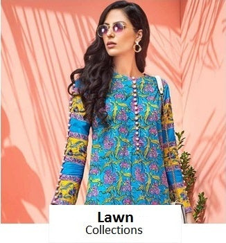 Shop Lawn Collections from our wide range of Pakistani Lawn. Printed, Embroidered & Luxury Lawn Collections from top brands of Pakistan like Asim Jofa, Elan, Al Karam, Gul Ahmed, Noorma Kaamal, etc