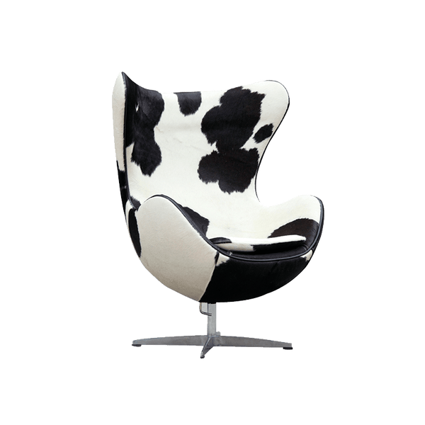 Chaise Egg en peau de poney