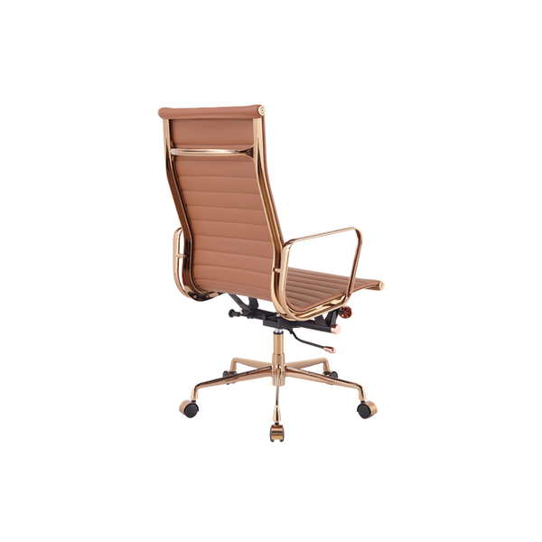Office Chair High Leather  - Gold Edition