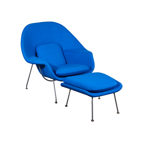 Wombo Chair with Ottoman  Cashmere