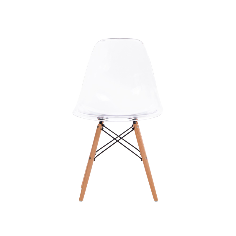 Silla Wood Ghost Transparente