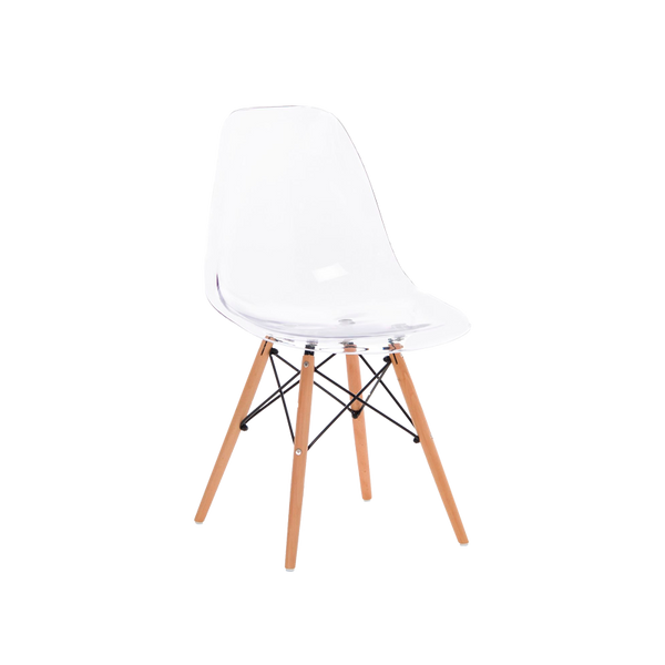 Chaise Wood Ghost transparente