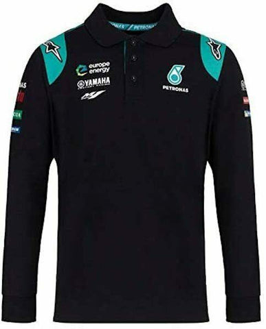 Official  Petronas Yamaha Team Long Sleeve Polo Shirt - 19PY APL