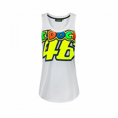Official Valentino Rossi VR46 White Woman's Tank Top   - VRWTT 307106