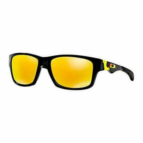 Oakley Jupiter Valentino Rossi Sunglasses VR46 Black Fire Iridium - OO9135-11