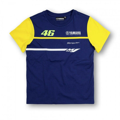 New Official Valentino Rossi VR46 Dual Yamaha Kids TShirt -  YDKTS 166009