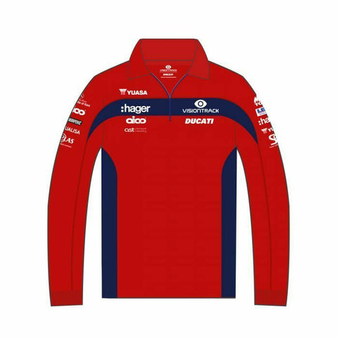 Official PBM VisionTrack Ducati Team Long Sleeve Polo shirt .-20PBM-LSP