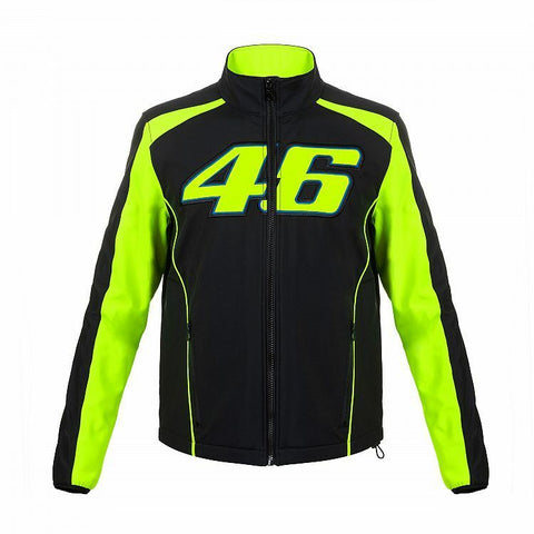 VR46 Official Valentino Rossi Black Man's Softshell Jacket  - VRMJK 306204