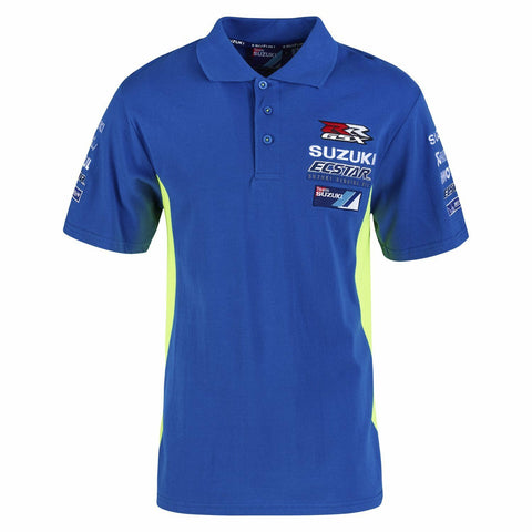 Official Ecstar Suzuki Motogp Team Man's Polo Shirt - 990F0 M7PSM