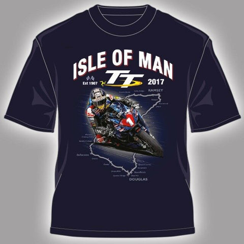 2017 Official Isle of Man TT Races Kid's Navy Course T'Shirt