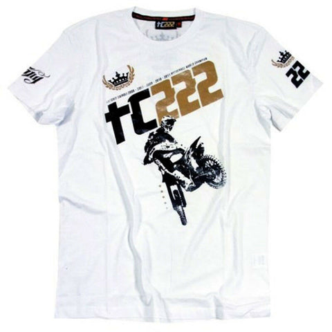 New Official Tony Cairoli 222 White  T-Shirt - 3222 06