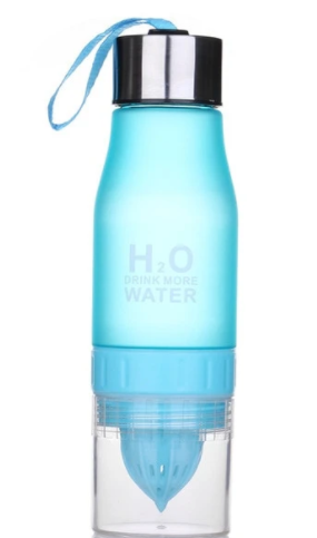 Fusion The H2O Drink More Water With Fruit Infuser Water Bottle 22 oz
