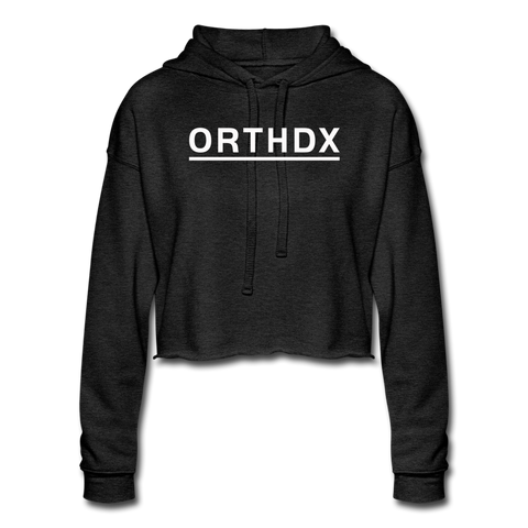 ORTHDX - Women's Cropped Hoodie - deep heather