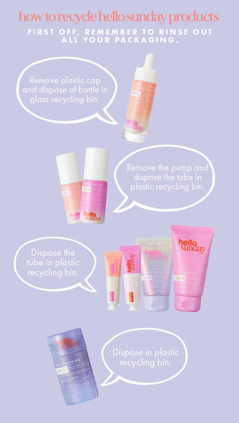 recycling your hello sunday products