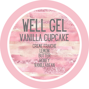 Vanilla Cupcake Personalized Votive Gel Candle