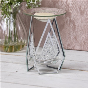 Diamond Shaped Wax Melter With Crystals