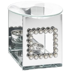 Pearl & Mirror Glass Tealight Burner