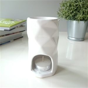 Abstract Ceramic White Burner