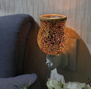 Gold Crackle Mosaic Plug In