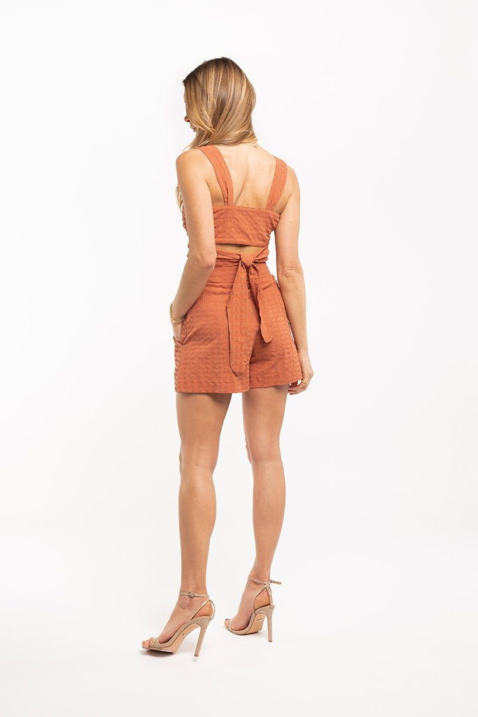 Cotton cropped top - Rust orange - CARSI Collection