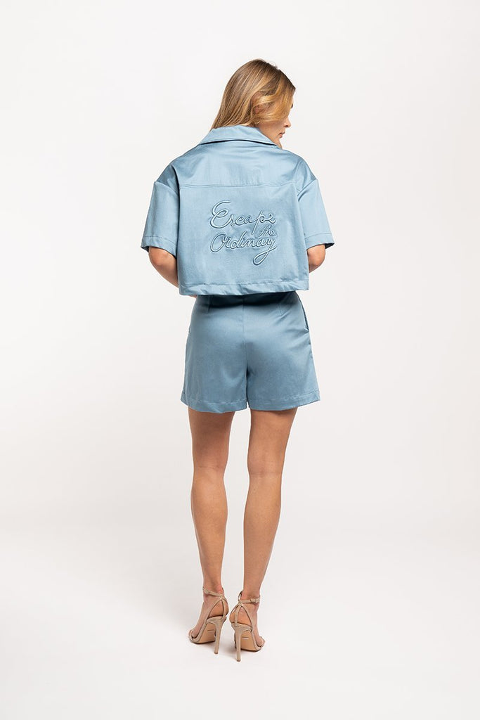 High-waisted shorts - Blue - CARSI Collection