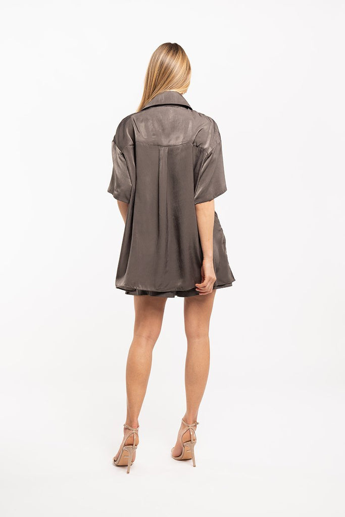 Satin fluid shirt - Khaki - CARSI Collection