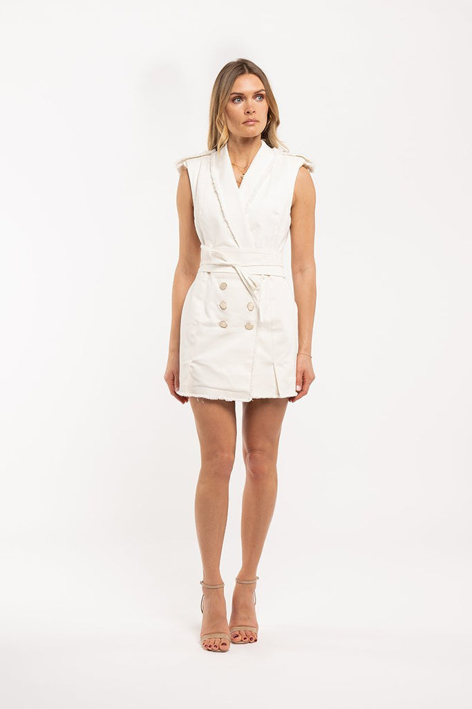 Waistcoat dress - Off white - CARSI Collection
