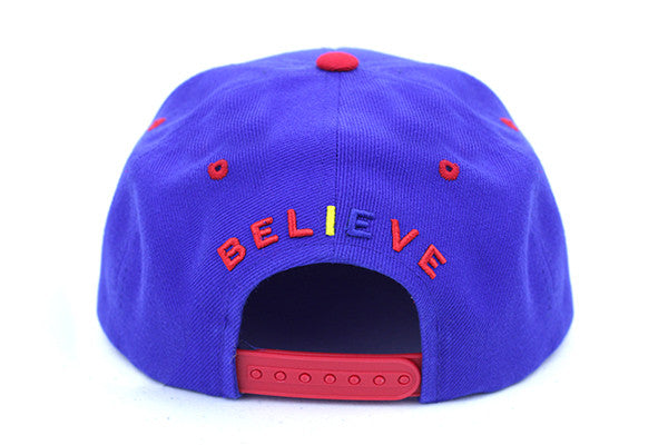 DEAD THEO HAT - ROYAL BLUE/RED
