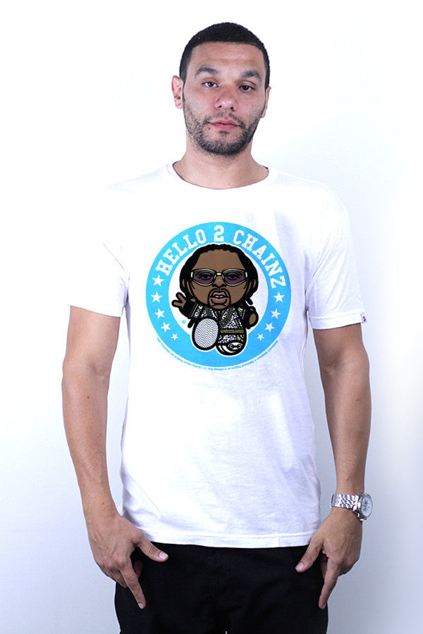 2CHAINS TEE - WHITE