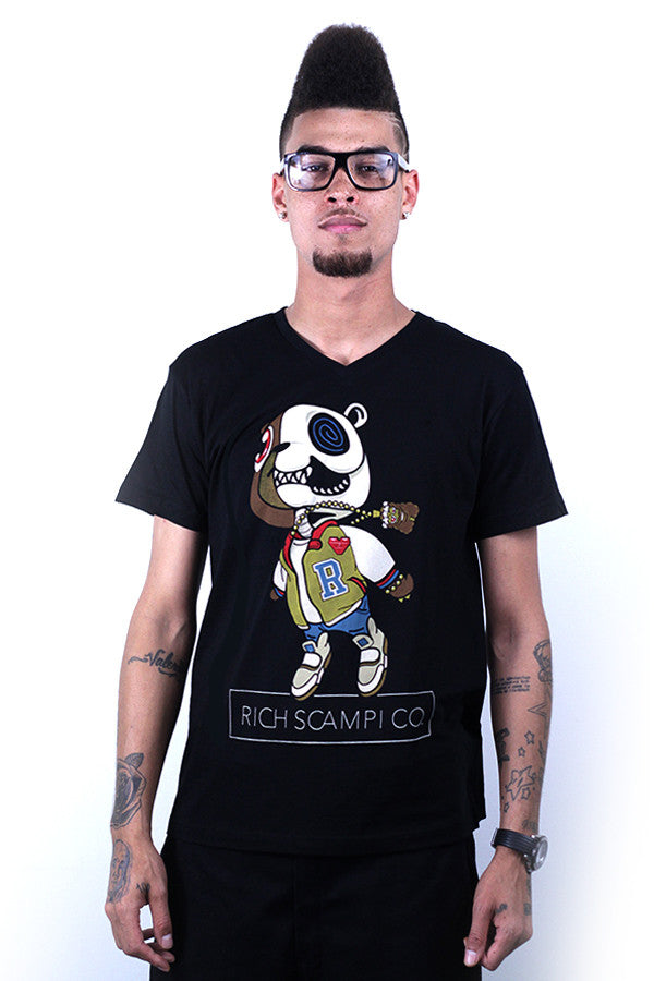 CANNON BEAR TEE - BLACK