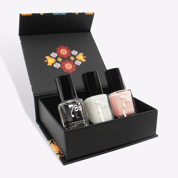 French Manicure Nail Polish Set - 786 Cosmetics