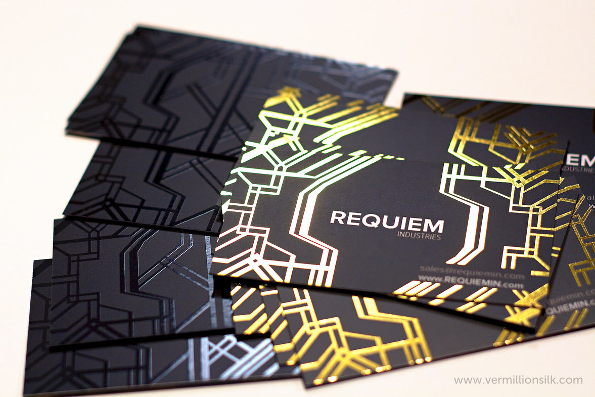 foil stamped business card photo