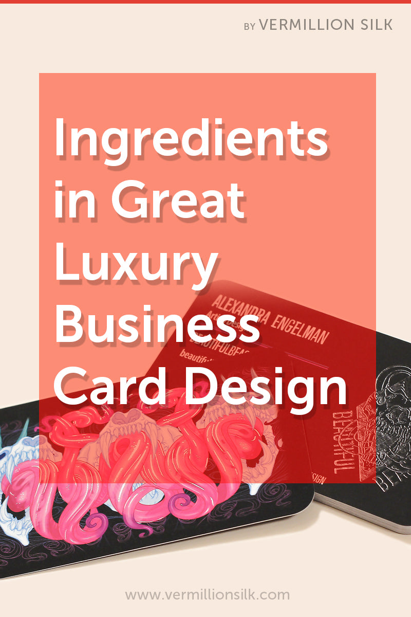 ingredients in great luxury business card design