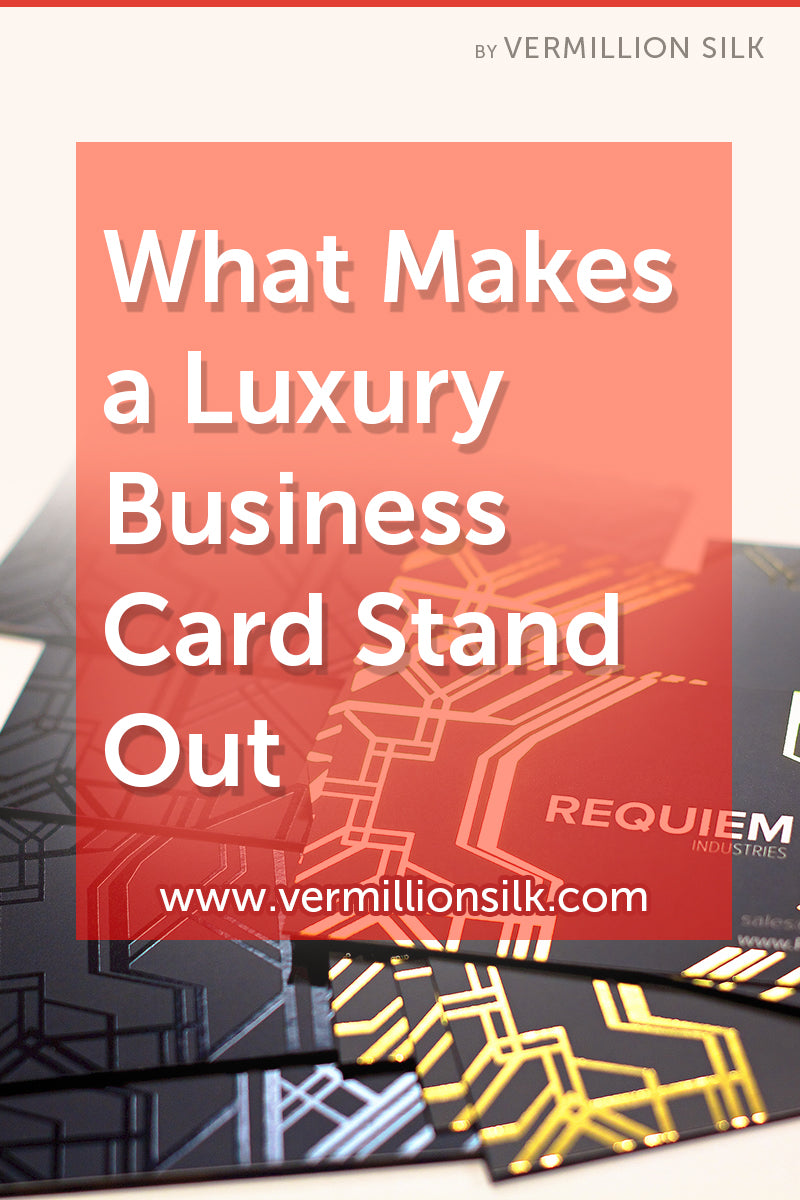 what makes a luxury business card stand out
