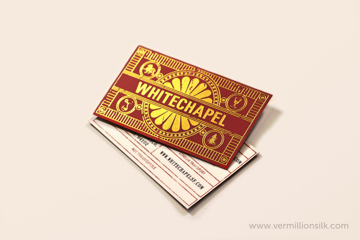 gold foil insert product packaging insert printing