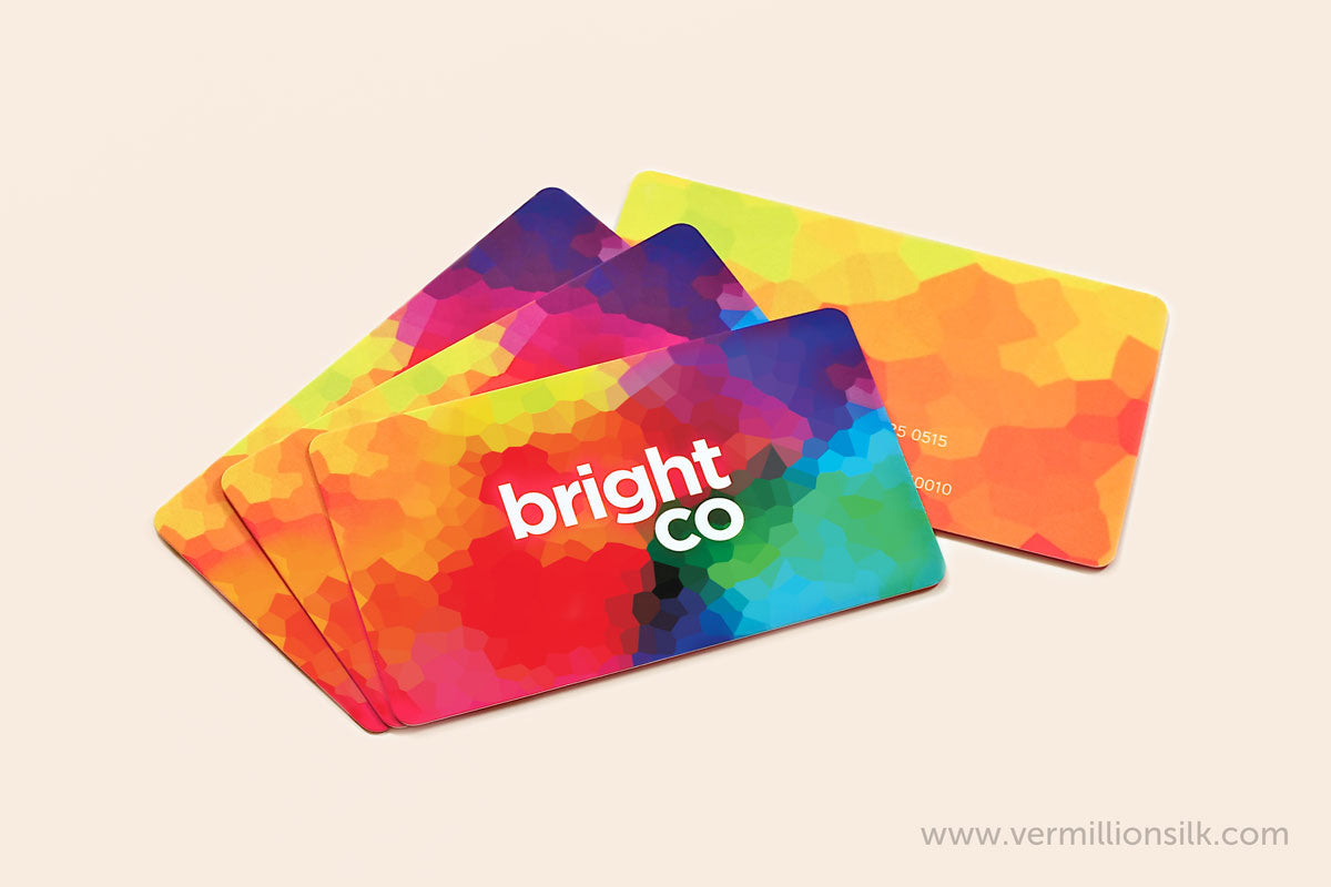 colorful luxury silk business cards