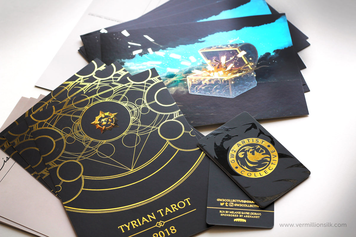 gold foil postcard insert product packaging foil printing
