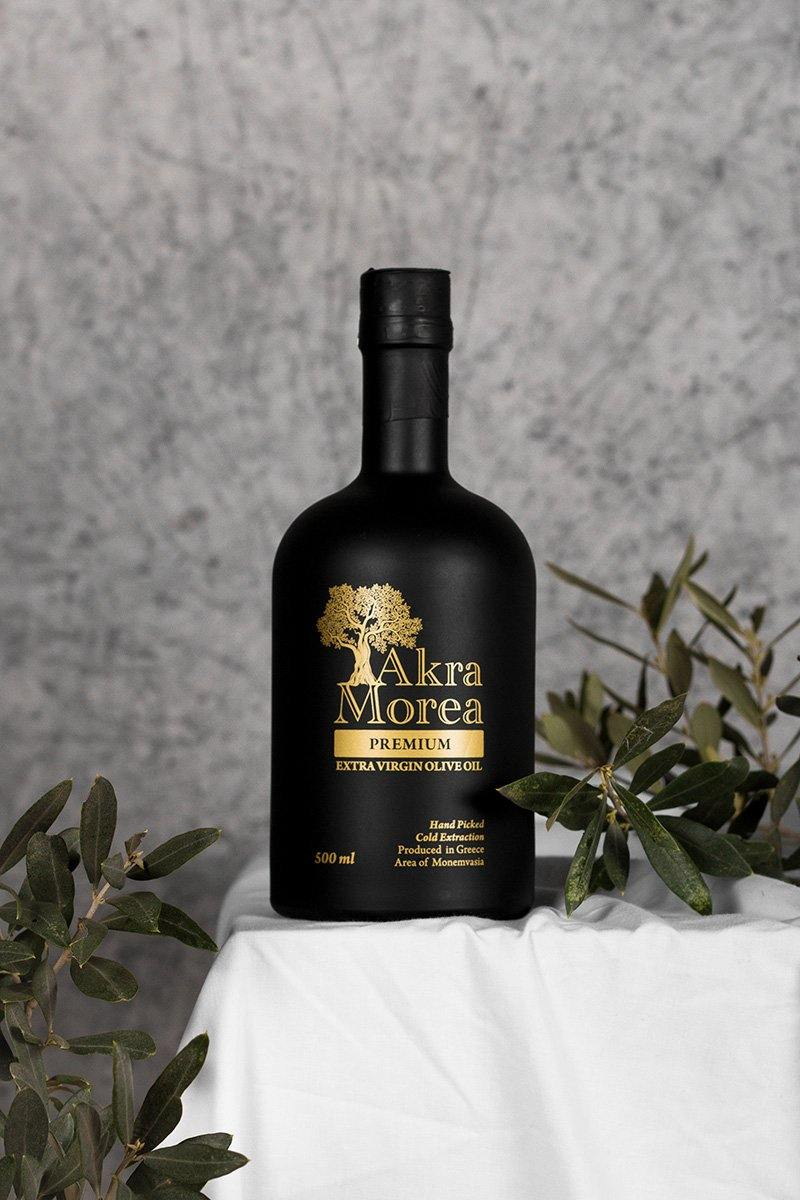 Premium Early Harvest Extra Virgin Olive Oil 500ml - Akra Morea Olive Oil