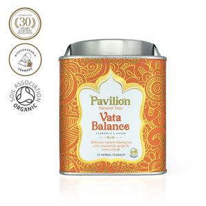 Premium Organic Chamomile & Ginger Herbal Tea (Vata Balance)