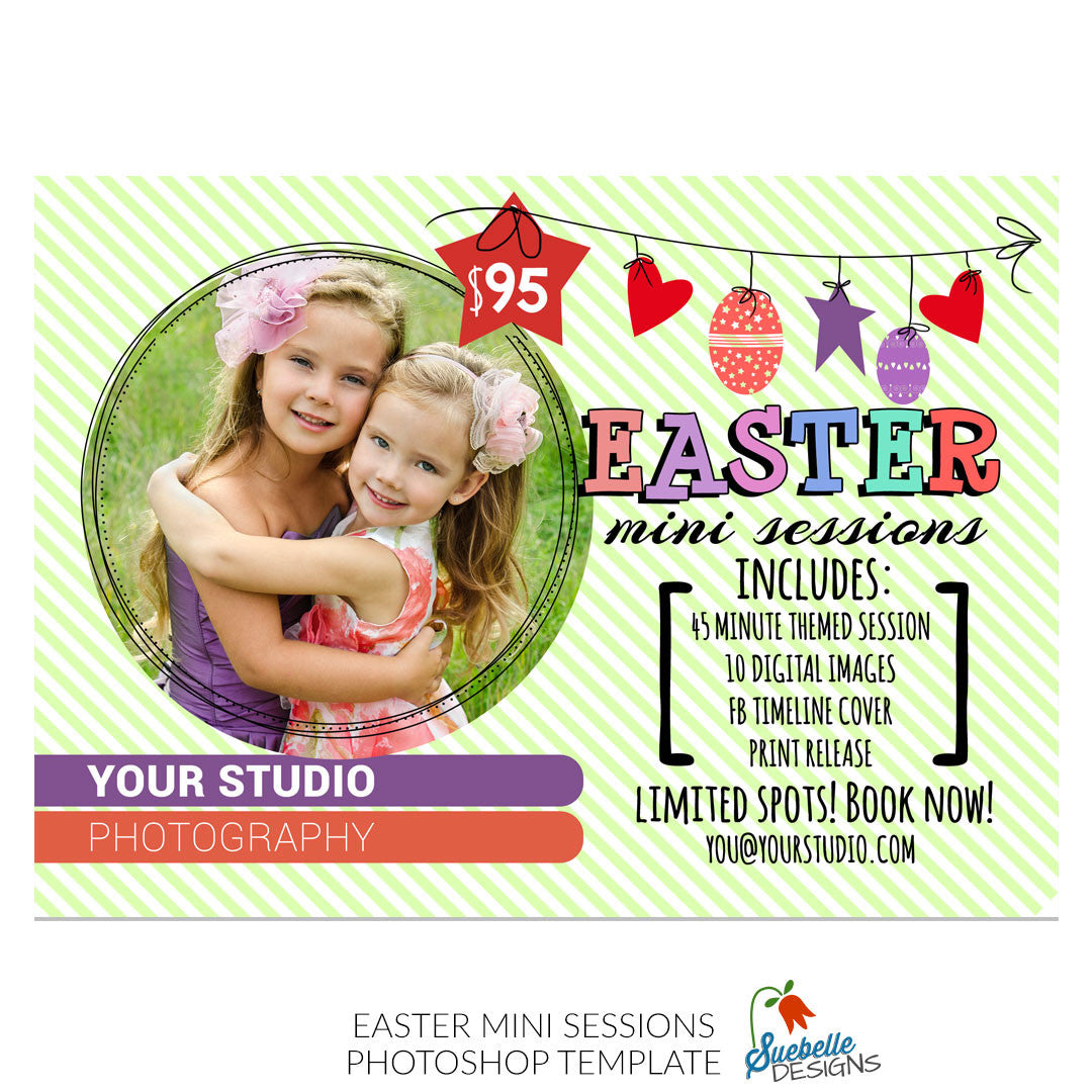 Easter or Spring Mini Sessions Marketing Board