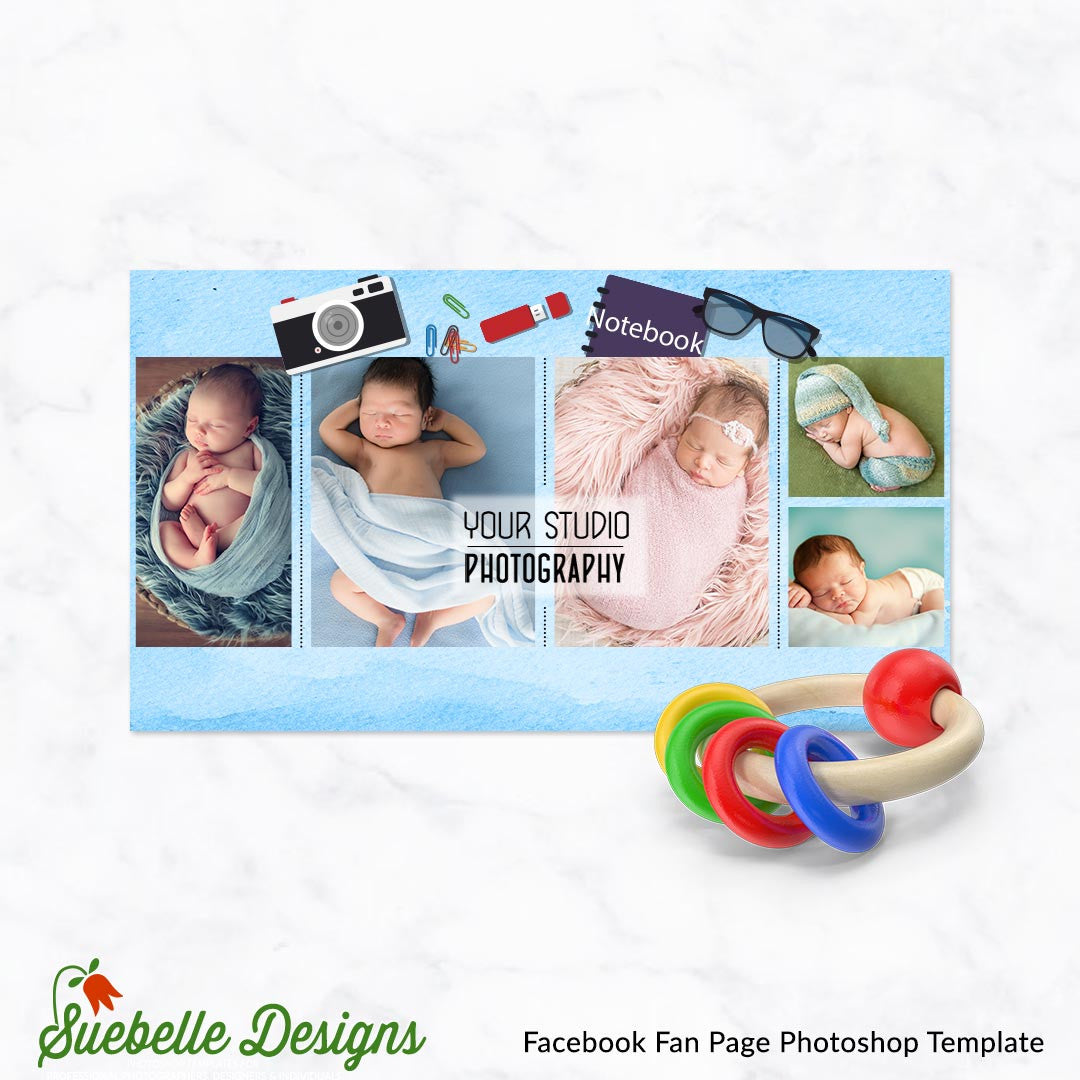 Facebook Fan Page Photoshop Template 17005